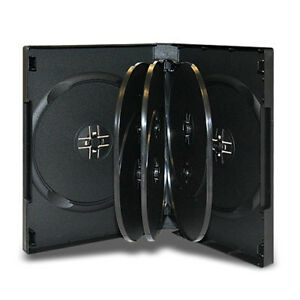 27mm 8 Disc Black CD/DVD Case with 3 Trays Wholesale Lot