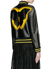 VALENTINO SUPER-H BATMAN PRINT LEATHER BOMBER JACKET IT 40 UK 8