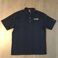 Nike DRI-FIT Tiger Woods Collection Golf Polo Shirt 397313 Men's L Large UCONN
