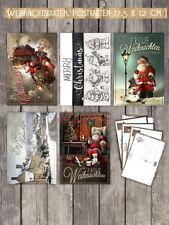 20 Weihnachtskarten, Postkarten 17,5 x 12 cm, 5 versch. Designs im Set,NEU!!!!