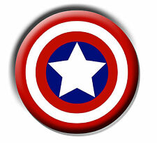 "CAPTAIN AMERICA 25mm 1"" BUTTON BADGE"