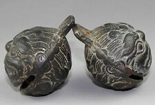 A pair of Chinese bronze bell 002