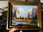 PAINTING+AMERICAN+INDIANS+IN+YOSEMITE%2C+LISTED+CALIFORNIA+ARTIST+HEINIE+HARTWIG