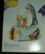 Kittens & Fishbowl Waterglobe Musical Nib