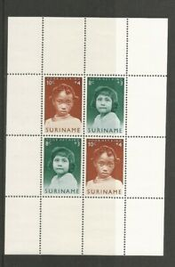 Suriname 1963 Child Welfare Fund Miniature Sheet Mounted Mint SG MS 527