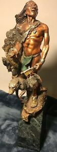 Legends Sculpture Hunter's Quest Warrior Wolf Medina Signed #219/950 Limited