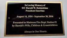 """Engraved 3"""" x 5"""" Solid Brass Plate Picture Frame Art Memorial Label Name Tag"""
