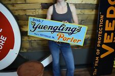 Vintage Yuengling's tin litho early beer Bar Advertising antique sign Nice shape