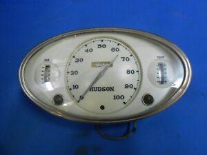 1936 Hudson Gauge Cluster Instrument Panel Rat Rod Speedometer Stewart Warner