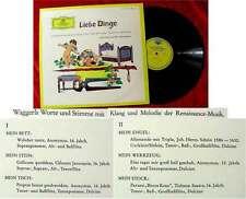 LP Liebe Dinge Literarische Miniaturen Karl H. Waggerl