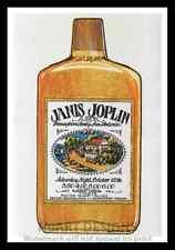 """Framed Vintage Style Rock n Roll Poster """"JANIS JOPLIN""""; 12x18"""