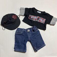 Build A Bear Extreme Sports BABW 3 Piece Boys Outfit Baseball Cap Skater Xtreme