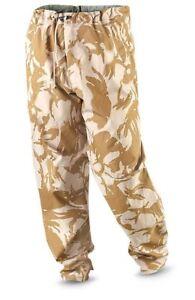 Genuine British Army Waterproof Desert Camo Gortex Trousers New Size 40-42 Reg