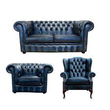 Chesterfield Sofagarnitur Sofa Couch Polster Sitz Garnitur Ohrensessel Sessel