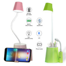 LED Desk Lamp Bedside Reading Light Dimmable Rechargeable Table Touch Control US