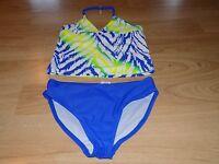 Size 4T Wonder Nation Flash Peach Crochet Pineapple One-Piece Swimsuit Swim Suit