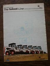 THE BOBCAT LINE (SKID STEER LOADERS) BROCHURE 1984 (440 443 543 641 643 741 743)