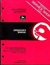 JOHN DEERE LIQUIFIRE SNOWMOBILE OPERATORS MANUAL OM-M69619 ISSUE F2  (293)
