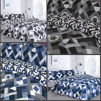 Pieridae Infusion Grey & Blue Duvet Cover Bedding Quilt Set And Pillowcases
