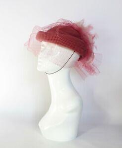 Vintage pillbox hat,Ascot, burlesque,wedding, races,church, mother of the bride