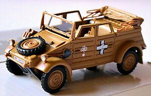VW Kübelwagen Type 82 offen 1940 Afrika Corps Wehrmacht Germany Military 1:43