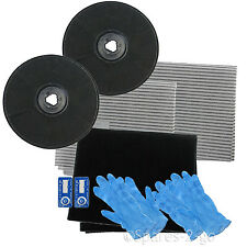 2 EFF57 Type Carbon Charcoal Filter Kit for ZANUSSI Cooker Hood Vent Extractor