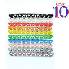 1000x Colourful Cable Markers C-Type Marker Number Label Tag 7mm