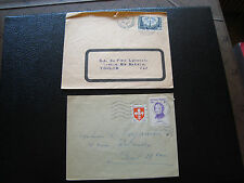 FRANCE - 2 enveloppes 1955/1960 (europa) (cy80) french