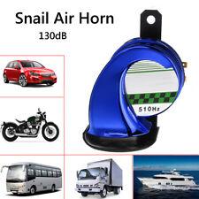Blue Universal Car Motorcycle 130dB Snail Air Horn Siren Loud Waterproof 12V DC