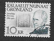 GREENLAND ISSUE - SINGLE 10k - FAMOUS PEOPLE - JONATHAN PATERSEN - 1991