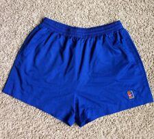 Vintage Nike Challenge Court Shorts Blue Agassi Tennis Pockets Men's Size Large