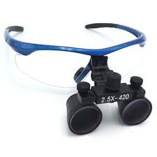 2.5X Dental Loupes Surgical Binocular Loupes Dental Magnifier Blue DY-101
