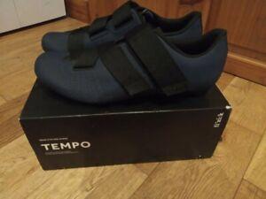 Fizik Tempo Powerstrap R5 Road Cycling Shoes Size 42.5 Eu, 8.5 UK, In Blue