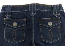 Women's No Boundaries Bling Boot Cut Jeans Dark Wash Size 7/8 Flap Pockets G8