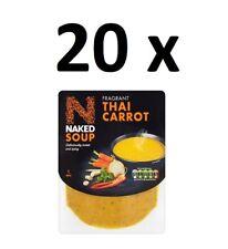 20 x nue soupe parfumée Thai Carotte 300 g Full Case BBE 31/03/20 Bargain bon ma...
