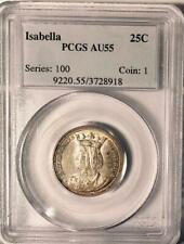 1893 Isabella Commemorative Silver Quarter Dollar - PCGS - AU-55 -Almost Uncircu