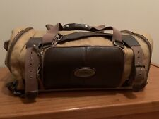 "GREAT VINTAGE SPORTSMANS WAREHOUSE 24"" CANVAS HUNTING DUFFLE BAG"