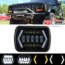 """1x 55W 7x6'' 5X7"""" LED Projector Headlight Hi-Lo Beam Halo DRL For Chevy Express"""