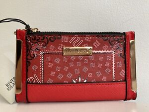 River island Red RI bandana print mini foldout purse red NEW WITH TAGS