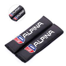 2x Carbon Fiber Alpina Seat Belt Cover Shoulder Pad