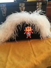 Knights Of Columbus 4th Degree White Ostrich Feather Chapeau With Carry Case