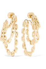 NIB Jennifer Fisher Adwoa Gold Plated Chain Link Triple Hoop Drop Earrings $395