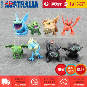 8x How To Train Your Dragon Figures Toy Cake Topper Display Figurine Decor Gift