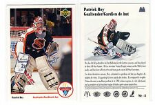 1X PATRICK ROY 1991 92 Upper Deck #8 MCDONALDS  NMMT Canadiens Lots Available