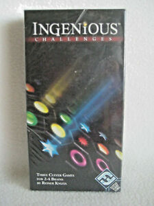 Ingenious Challenges: 3 Clever Games For 2-4 Brains Fantasy Flight New & Sealed
