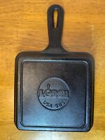 """Lodge 5"""" Square Cast Iron Cooking Skillet 5WS Pan Camping Hiking Picnic"""