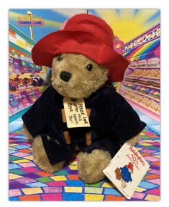 """Vintage 1998 Paddington's 40th Anniv. Teddy Bear 12"""" Red Hat Blue Coat With Tags"""