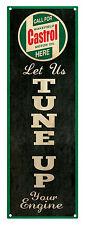 CASTROL OIL 'Tune Up Your Engine'  Tin Sign 60 x 20 cm  CASTROL OIL Tin Sign