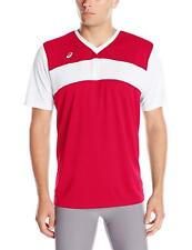 ASICS Mens Volley Jersey, Red/White, Large