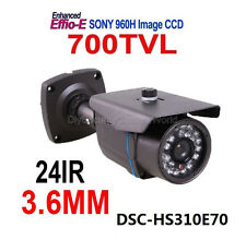700TVL SONY 3.6mm Wide Angle Lens 24IR Outdoor Security Surveillance CCTV Camera